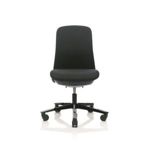 HÅG SoFi 7200 - black frame - Black Aluminium Footbase - Fabric: Remix RMX 183 - Medium Back - No armrests