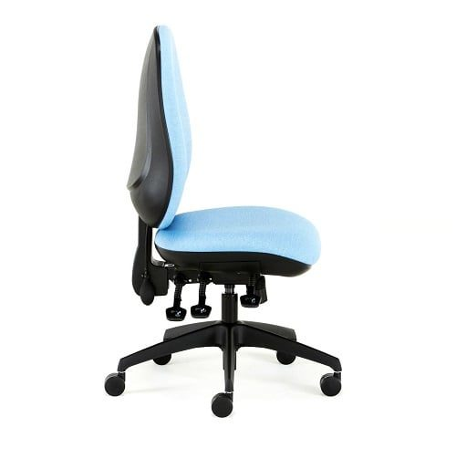 blue office chair side