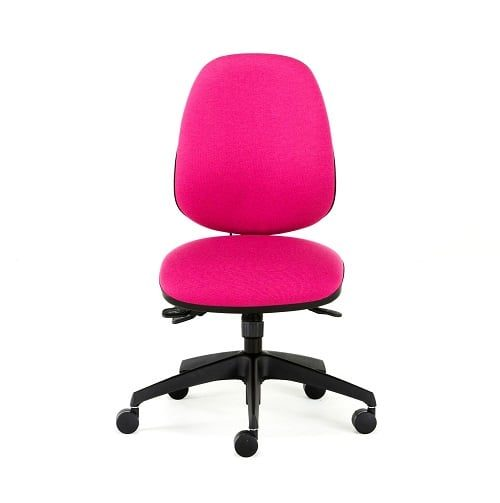 pink office chair front