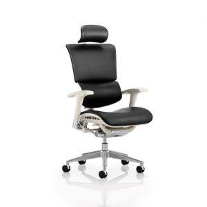 ergonomic black leather chair