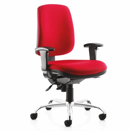 red chair with arms