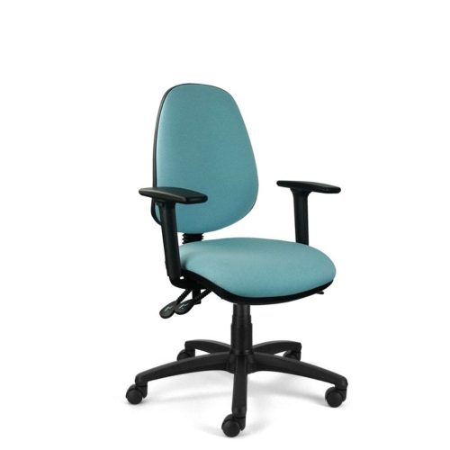high back task chair side